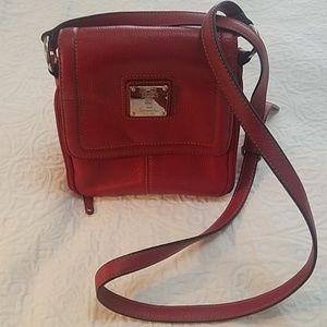 🍁Tignanello red crossbody saddle bag